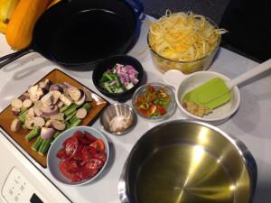 Moringa Tomato Curry prep