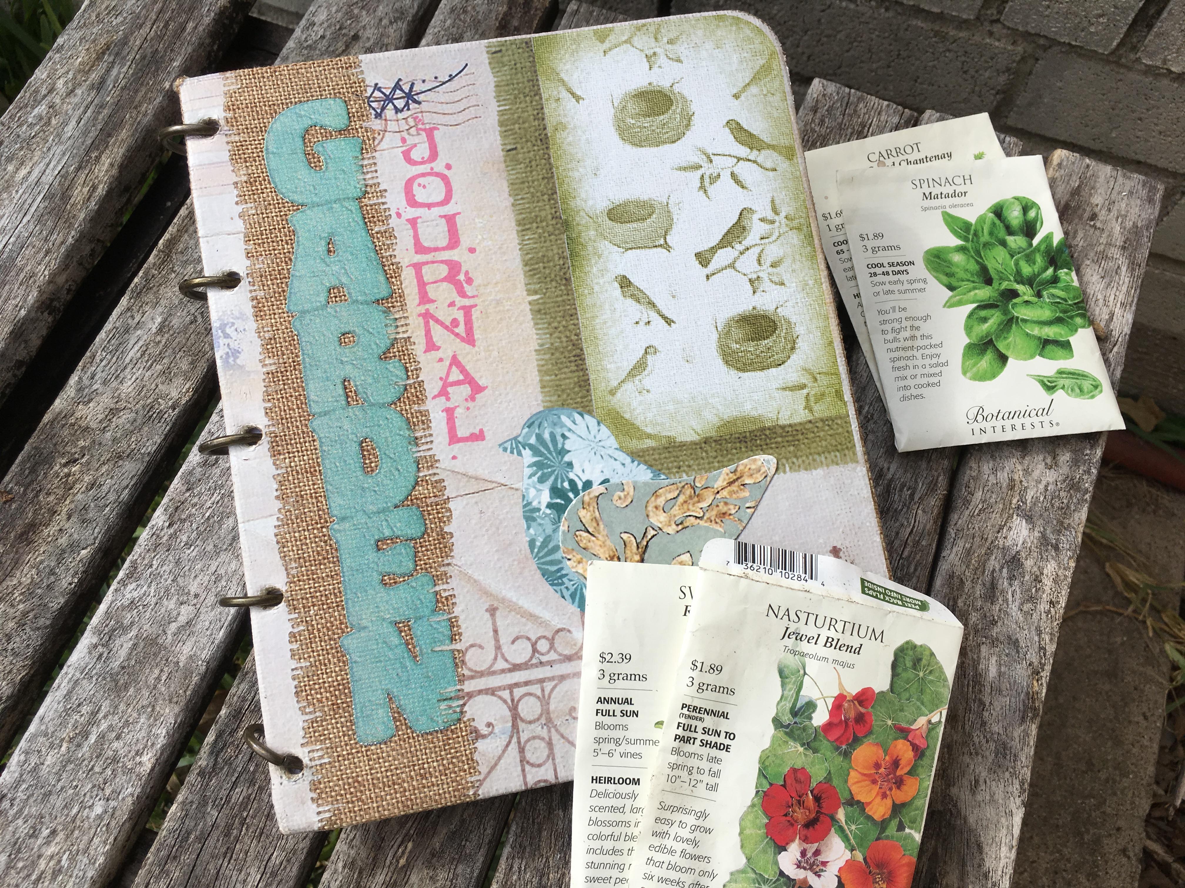here is a peek into my garden journal